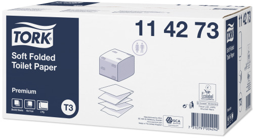 Tork Premium Z Katlamalı Tuvalet Kağıdı 252'li 30 Paket