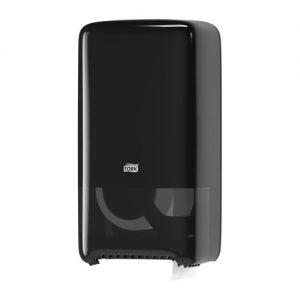 Tork İkiz Orta Boy Tuvalet Kâğıdı Dispenseri Siyah